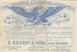 Advert For Kilvert's Pure Lard reverse